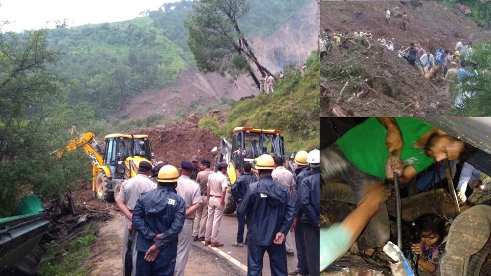 Landslide in himachal's mandi
