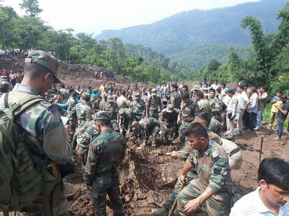 Mandi landslide rescue operation