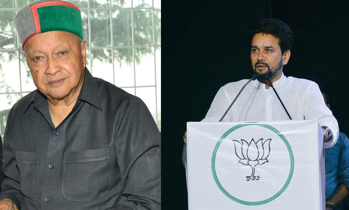 ANurag Thakur statements on Virbhadra Singh