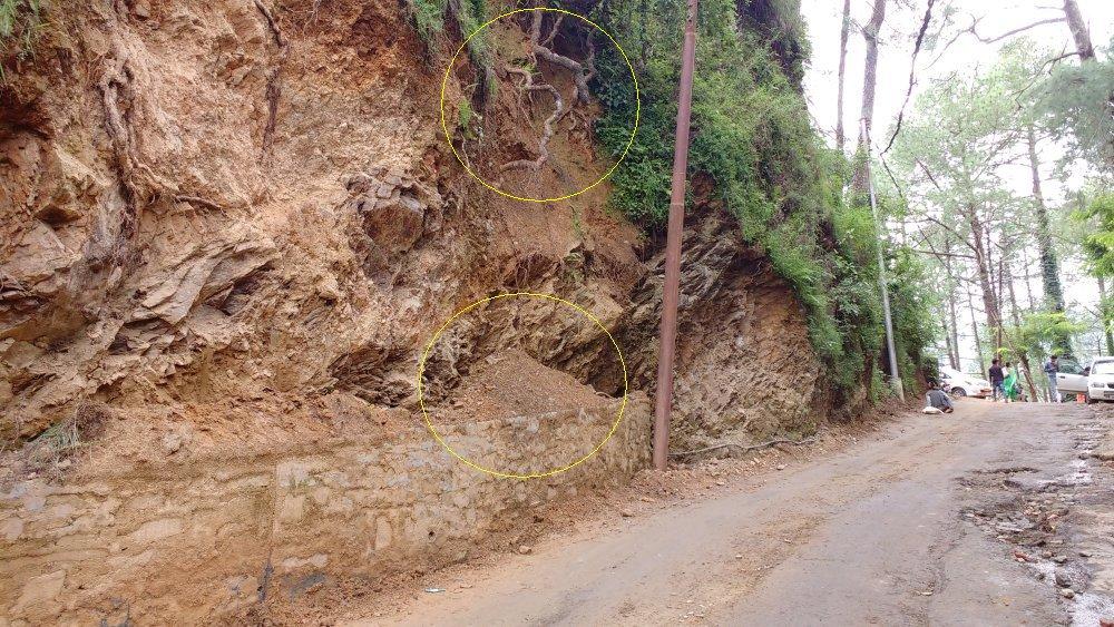 Landslide prone shimla zones