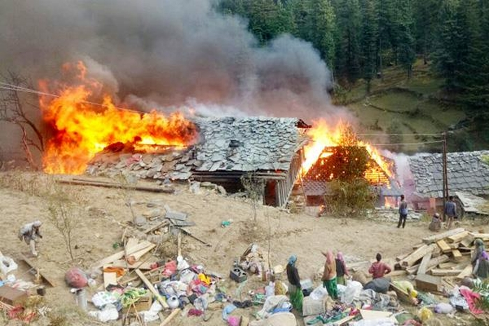 Devastating fire in Himachal Pradesh