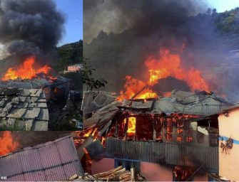 Devastating fire breakout in Shimla village renders 7 families homeless