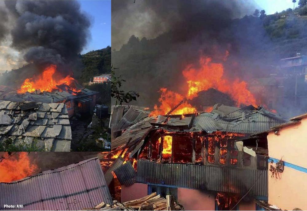 Fire breakout in Shimla's Jubbal