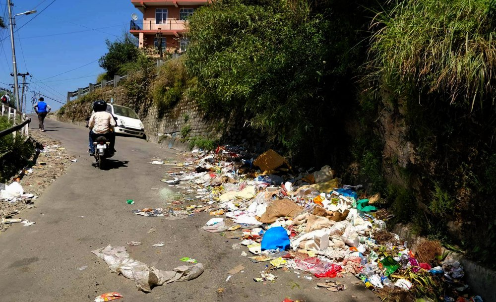 Garbage in shimla city
