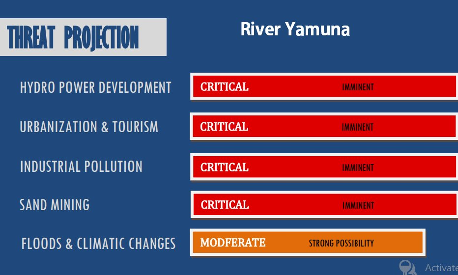Threat projection for river yamuna