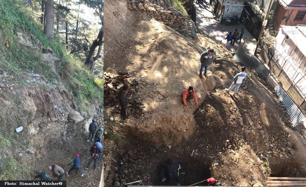 Illegal construction in Shimla's core area