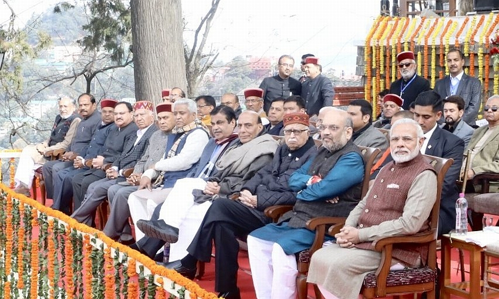 HP Chief Minister Jairam oath taking ceremony on the shimla ridge 5
