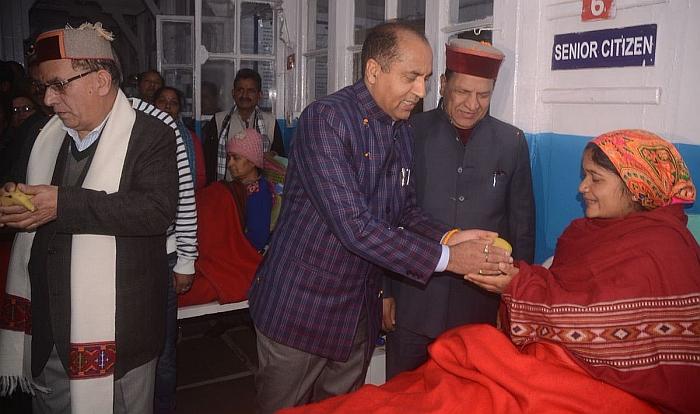 Jairam Thakur at the Rippon hospital shimla