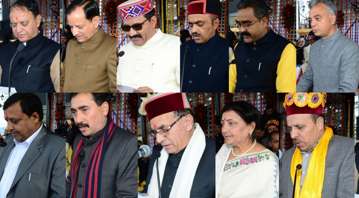 Shimla: Today, The New Cabinet Of The Himachal Government Was Formed. Along  With Jairam Thakur, Who Sworn In As The Chief Minister, 11 Other Ministers  Also ...