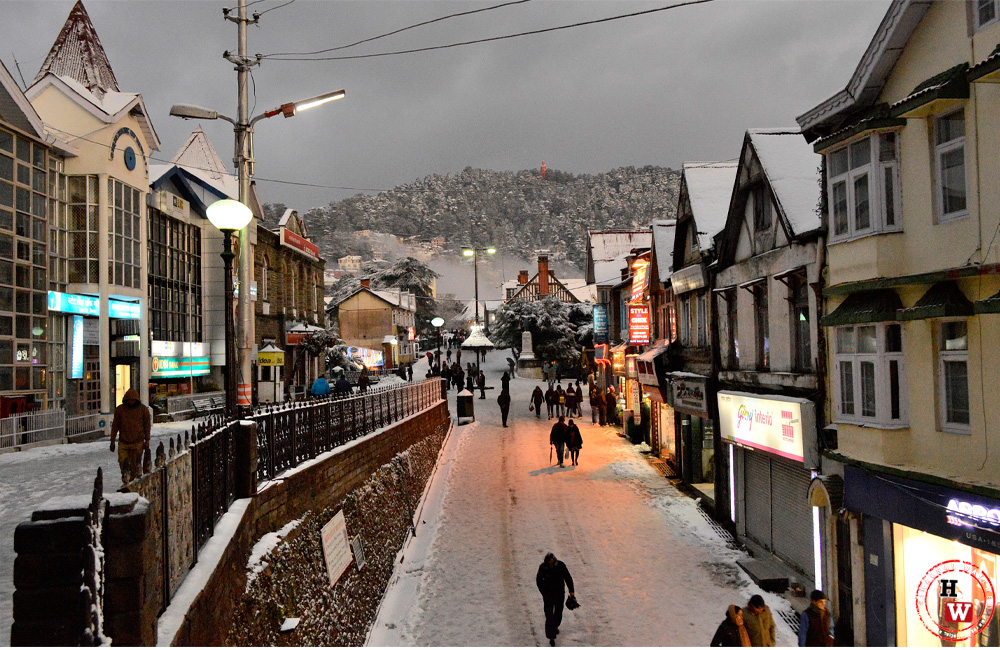 Snowfall in Shimla on New Year