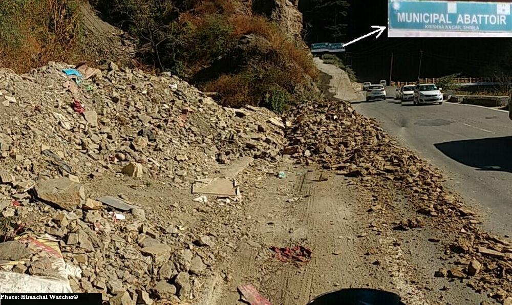 Illegal muck dumping in Shimla