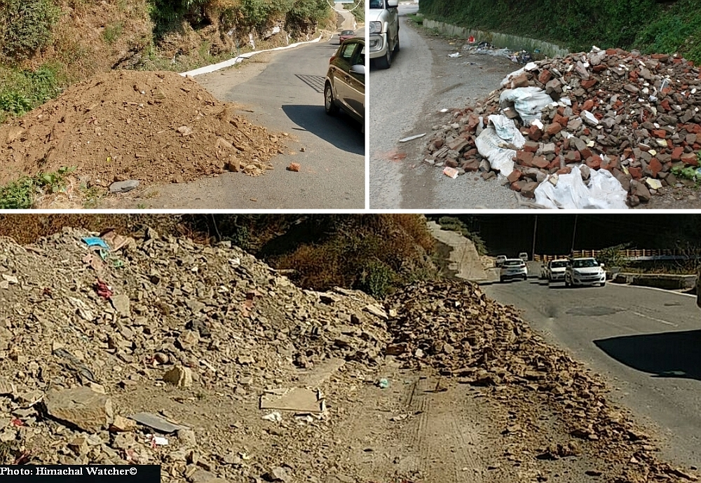 Illegal muck dumping sites in Shimla city
