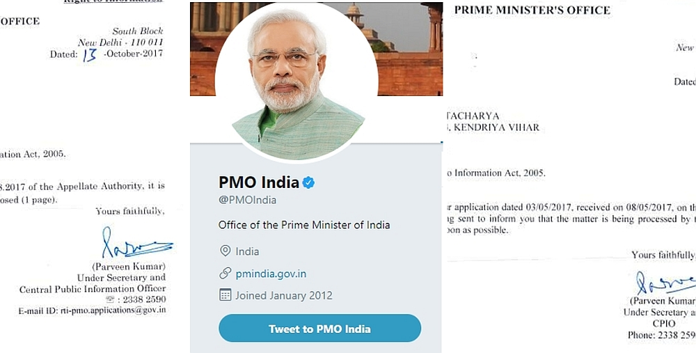 PMO Modi Twitter Handle RTI
