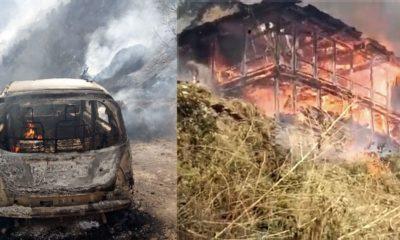 Fire in Rampur in Shimla
