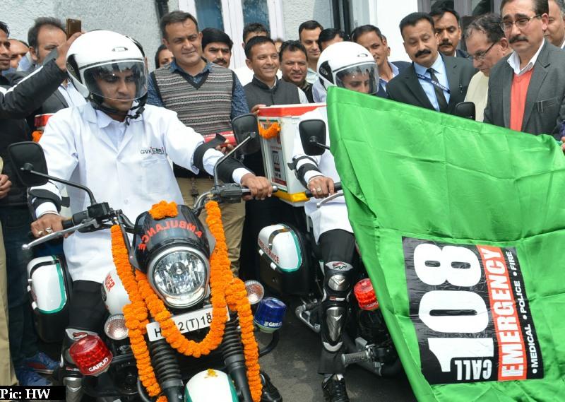 108 bike ambulance in Himachal Pradesh