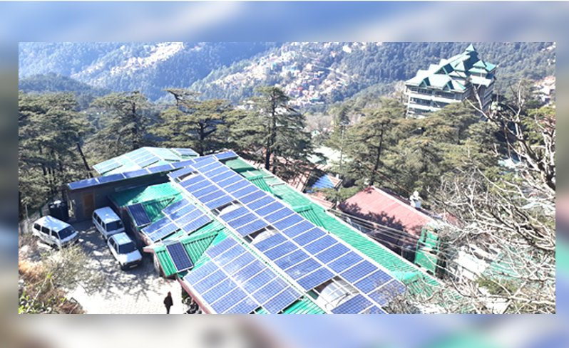 Solar power plants in Shimla city