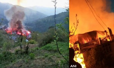 video of fire in rohru shimla