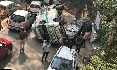 108 ambulance accident near IGMC Shimla
