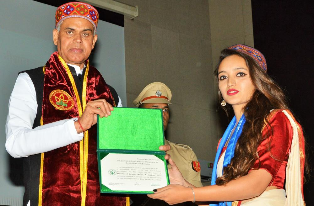 UHF gold Medalist at 9th Convocation of the UHF Nauni 2