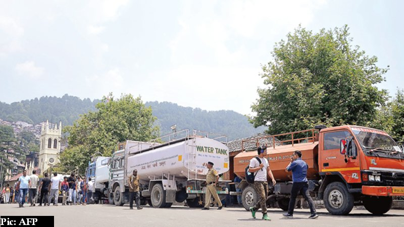 Water schemes in Himachal pradesh drying up