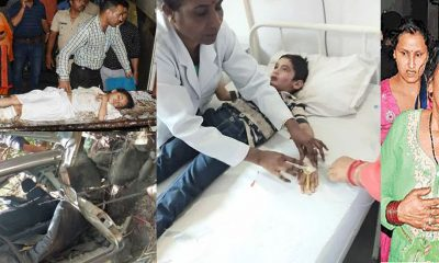 dharmpur school van accident