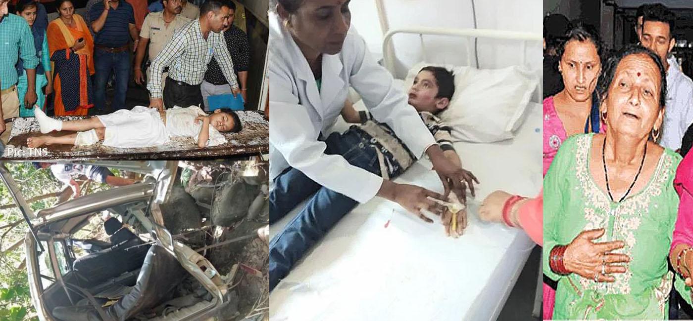 dharmpur school van accident