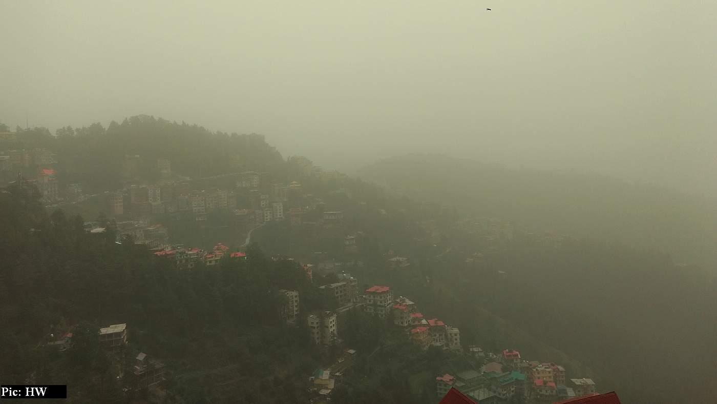 haze in Himachal Pradesh