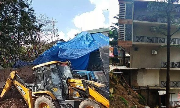 Dharamshala illegal construction in core area