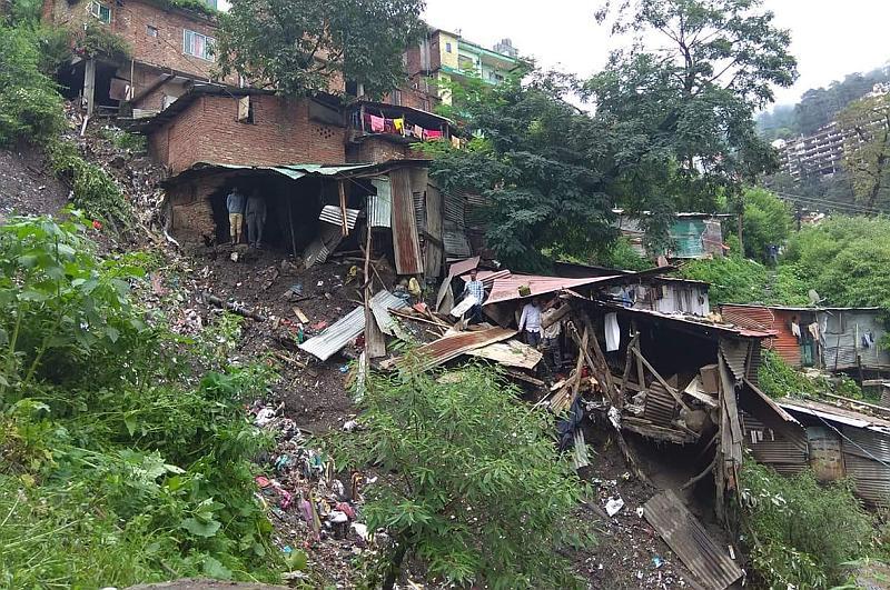 Krishnanagar homes damaged by rain