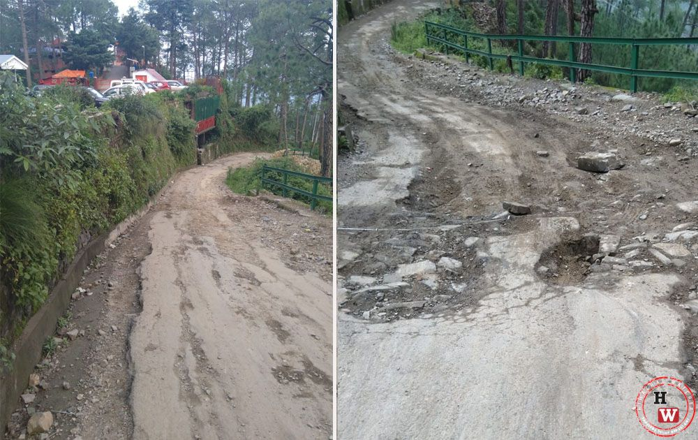 Poor roads in shimla