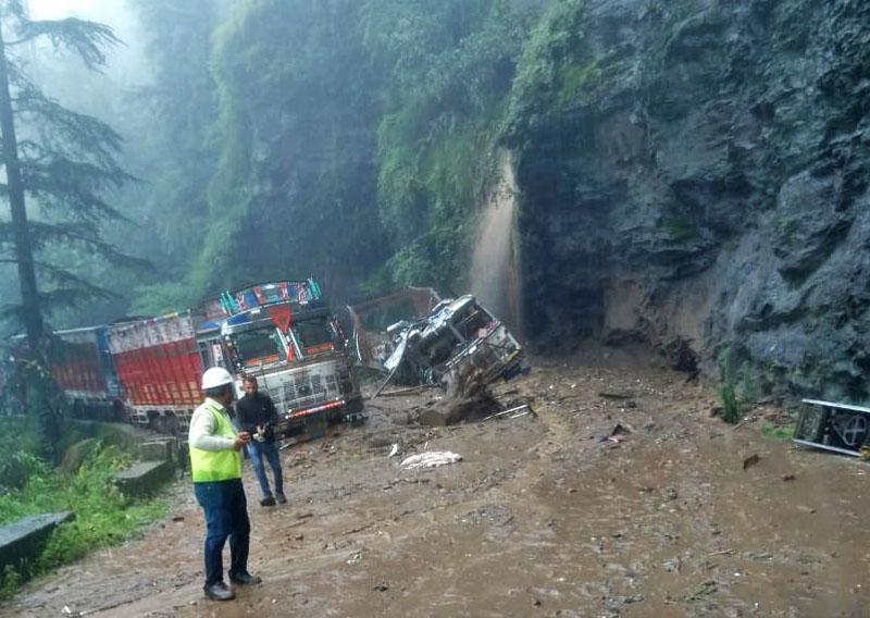 Rain damages in Himachal Pradesh 2018