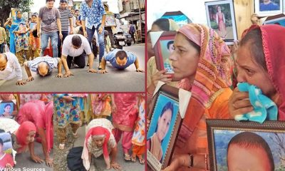 parents rub noses seeking CBI probe into Nurpur tragedy
