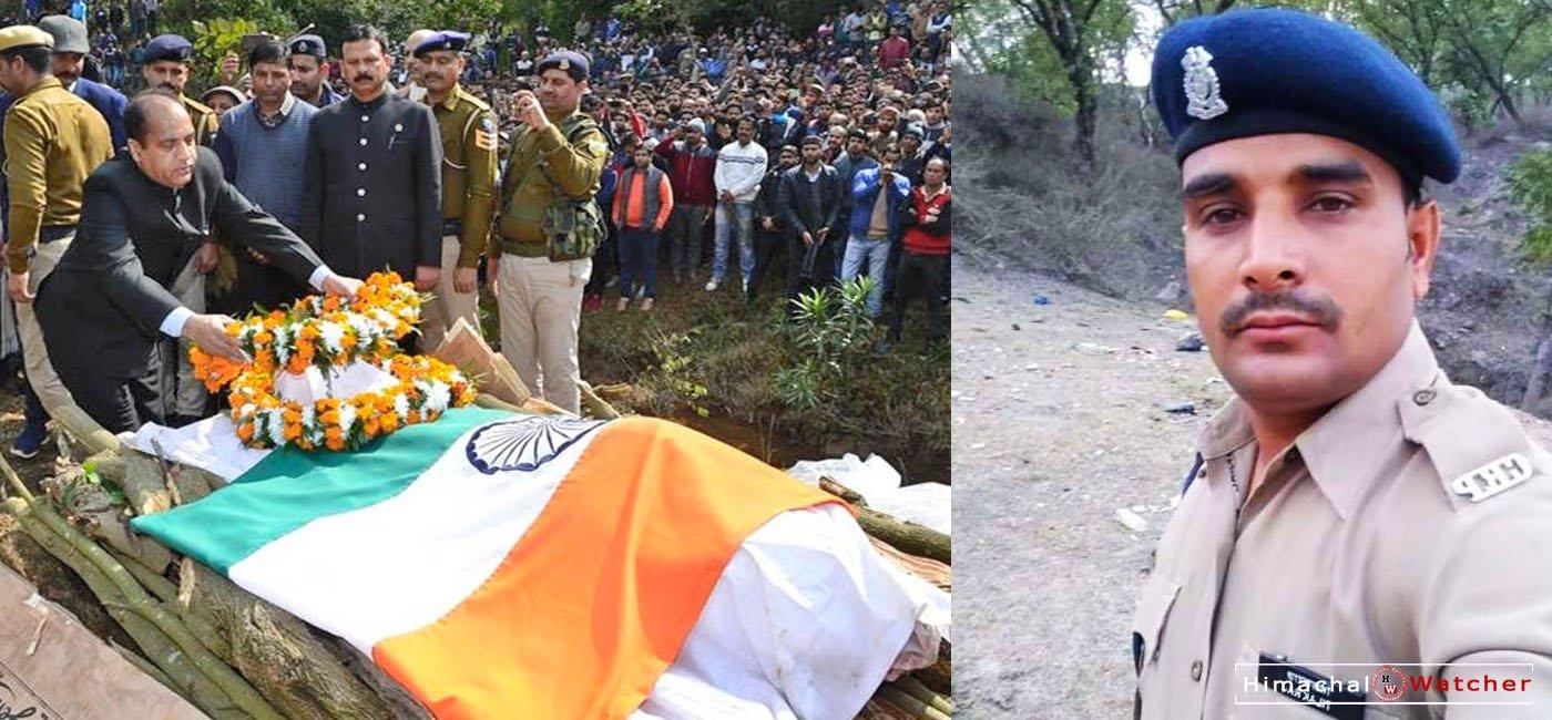 HP CRPF Martyr tilak raj cremated in Kangra