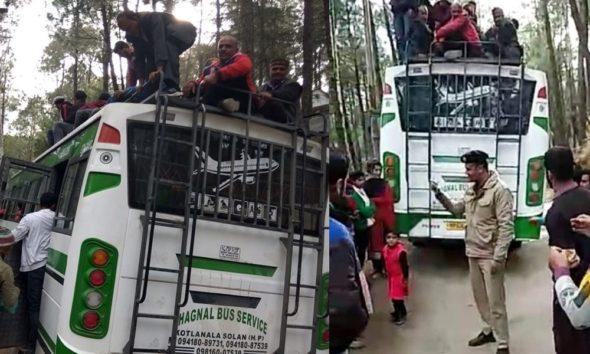 OVerloaded Bus In Sirmaur of Himachal Pradesh