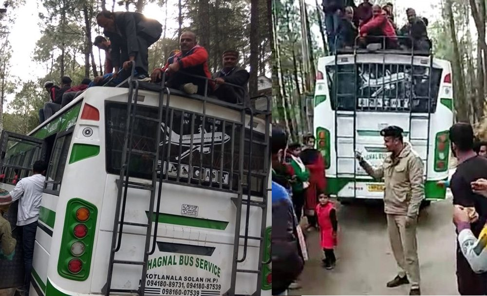 OVerloaded Bus In Sirmaur of Himachal Pradesh