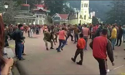 Youth clash with shimla police on holi