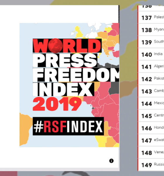 India in world press freedom index 2019 report 2