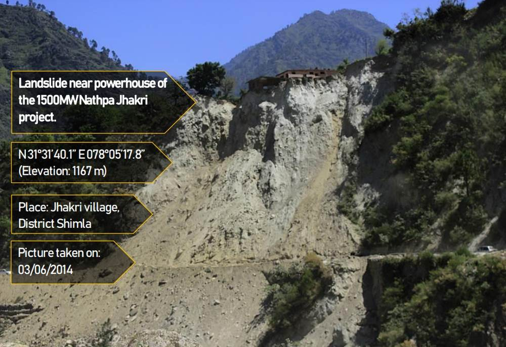Landslide in Jhakri village of shimla due to hydropower project