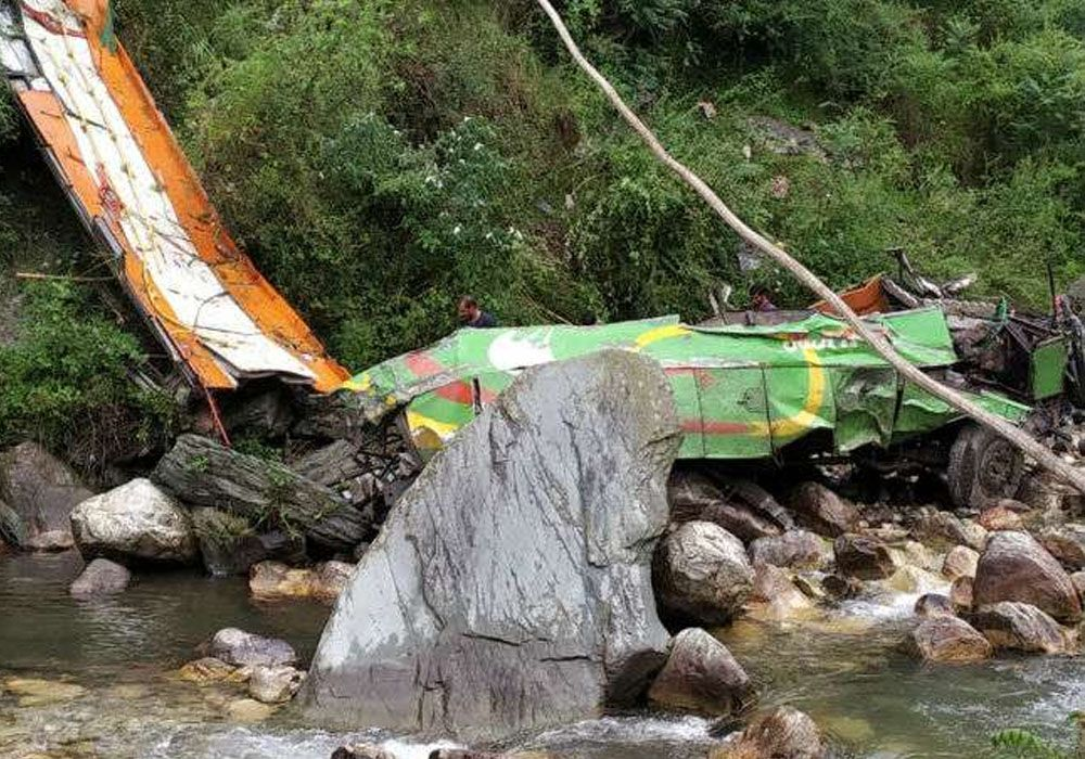 Pictures of Kullu Bus Accident in 2019
