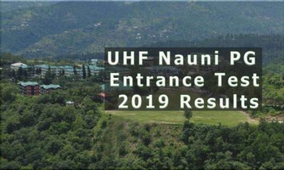 UHF Nauni PG Entrance Test 2019 Results