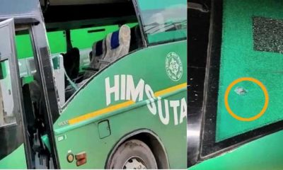Firing on HRTC Volvo Bus in Haryana