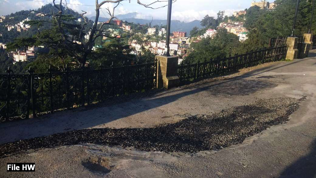 Fresh cracks on shimla ridge
