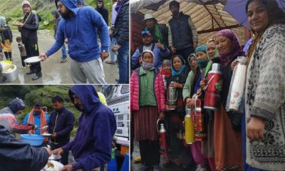 Lahaul-Spiti Locals help standed tourists