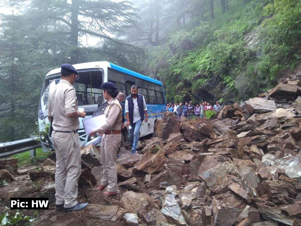 Landslide in Hassan Valley Shimla 2