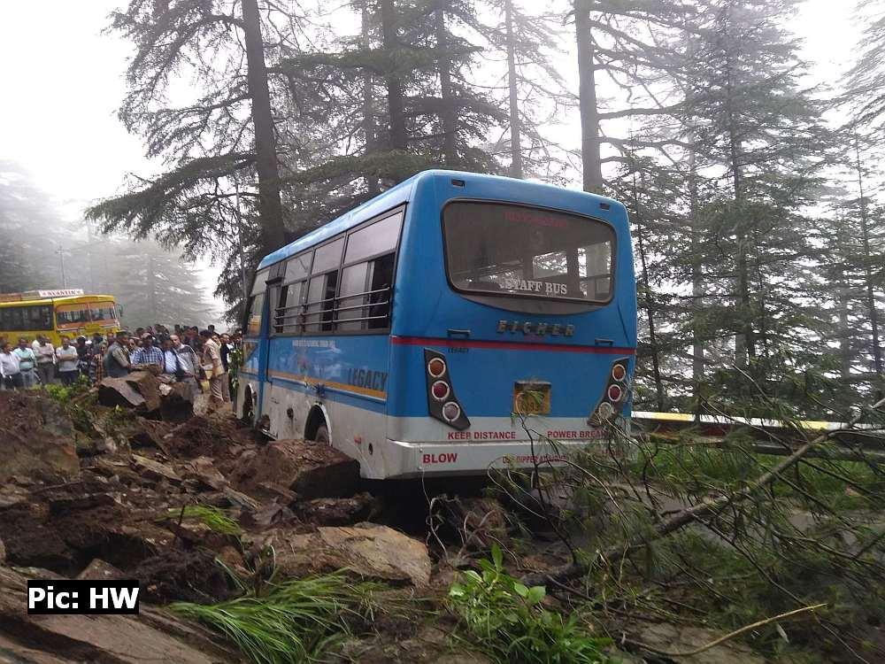 Landslide in Hassan Valley Shimla 4