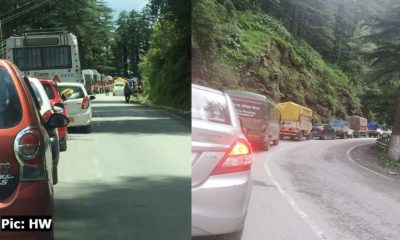 Traffic jam on kufri-bhattakufar road