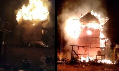 Fire in Nirmand Temple