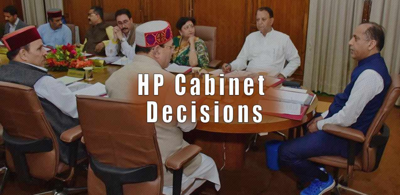 HP Cabinet Decisions September 16, 2019