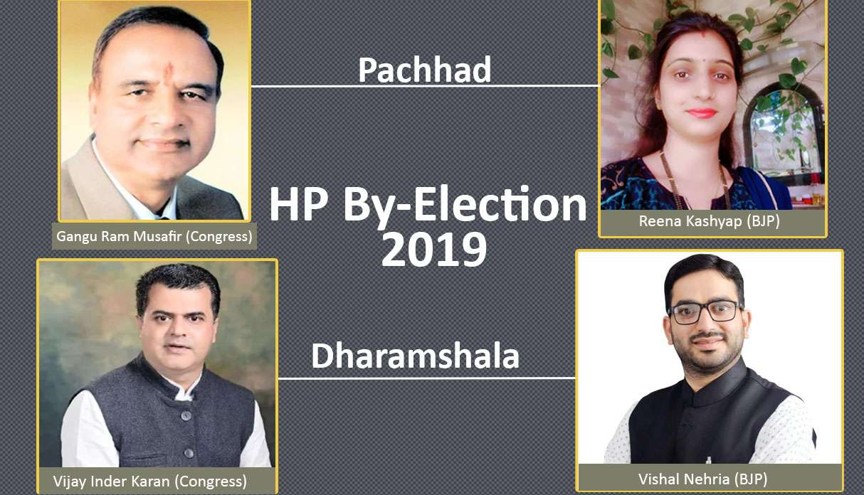 Hp by-election 2019 list of candidates