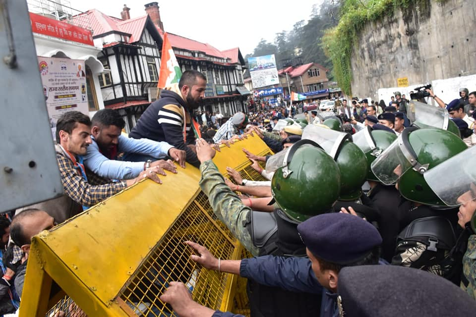 NUSI Shimla Protest